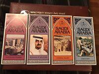 4 Vintage MINT Saudi Arabia Brochures 1982  Facts, Values ,messages, Education