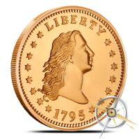 1 oz Copper Round - Flowing Hair Dollar