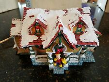Disney Christmas Village Rerired Mickey Mouse House Light Up