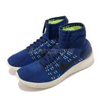 Nike Lunarepic Flyknit Blue Black Volt Men Running Shoes Sneakers 818676-400