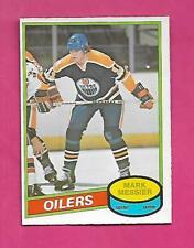 1980-81 OPC  # 289 OILERS MARK MESSIER  ERROR ROOKIE  EX-MT CARD  (INV# D1768)