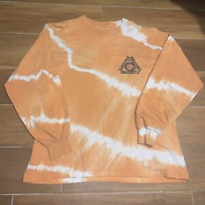 Vtg Hypercolor Long Sleeve Shirt Sz M Orange Tie Dye Generra Hyper Grafix Usa