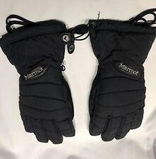 New listing Marmot Womens Winter Ski Black Gloves Size Med Style E18190 Free Shipping