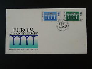 bridge Europa Cept 1984 FDC Guernsey 81983