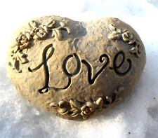 """Latex heart love rock mold Make  Mothers Day gifts 3.5"""" x 2.5"""""""