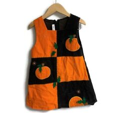 Bonnie Jean Girl's Halloween Pumpkin Jumper Dress Dress Size 3t