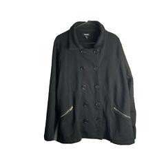 Torrid Size 3 Jacket Coat Black Long Sleeve Solid Women's Fall Winter Cozy Boho