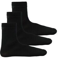 Mens BIG FOOT 100% Cotton Rich Socks Pack of 3 Pairs UK Foot size 11-14 Black