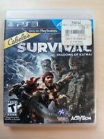 CABELA'S SURVIVAL: SHADOWS OF KATMAI game complete w/ manual- Playstation 3 PS3