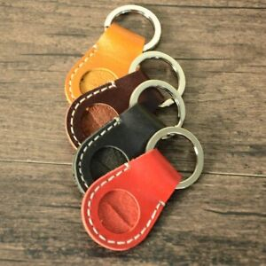 Genuine Leather Keychain Coin Storage Bags Multifunctional Cowhide Home Key Ring