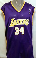 Vintage Shaquille O Neal LA Lakers Purple Champion Jersey Size 48 NBA Basketball