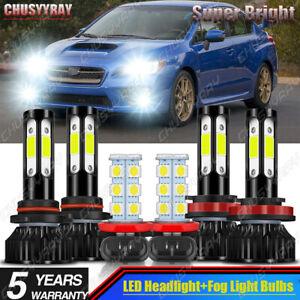 Para For Subaru WRX 2015 2016 2017 2018 2019 2020 Faros LED+Bombillas antiniebla