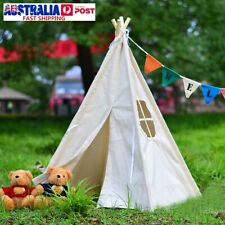130cm Portable White Teepee Tent Kids Playhouse Sleeping Dome Children Toy Gift