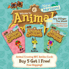 ANIMAL CROSSING NFC AMIIBO CARDS + ANY VILLAGER YOU WANT!