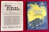 Electric Wiring Handbook + Planner Sears Roebuck 1947 Paperbacks Vintage