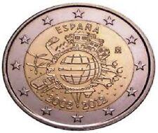 25 x 2 EUROS ESPAÑA 2012 CARTUCHO DE 10 AÑOS DEL EURO ROLLS TYE