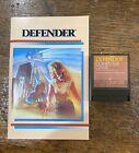 Defender Cxl4025 Atari Computer Game + Manual - Vintage 1982