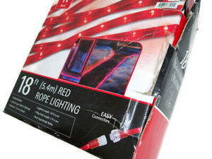 Indoor Outdoor Christmas Holiday Red Color 18 FT Rope Lights Lighting New
