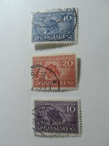 Discount Stamps : DENMARK 1941 SC#277-279 BERING'S SHIP 3v FINE USED SET