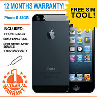 Apple iPhone 5 - 32 GB EE Orange T-Mobile Virgin Smartphone - Black & Slate
