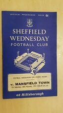 1967 FA Cup - SHEFFIELD WEDNESDAY v MANSFIELD TOWN - 4th Round 18th February