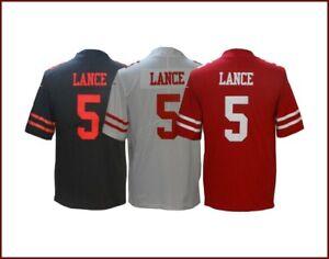 Trey Lance #5 San Francisco 49ers Men's Stitched Jersey 2021 New