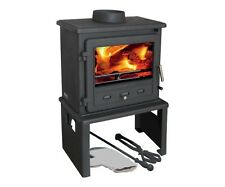 Firefox 8 Europa Multifuel Woodburning  Stove Complete With Log Store wood