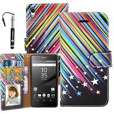 MadCase Print PU Leather Wallet Case Diary Book Cover for Sony Xperia Z5 Premium Shooting Stars