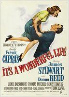 Its A Wonderful Life Vintage Movie Large Poster Art Print Maxi A1 A2 A3 A4