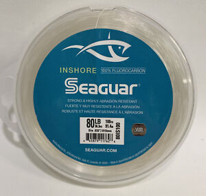 SEAGUAR INSHORE FLUOROCARBON  80lb -100yd NEW! 80IS100