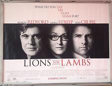 Cinema Poster: LIONS FOR LAMBS 2007 (Quad) Robert Redford Meryl Streep