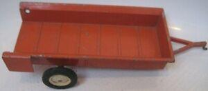 VTG 1960's Ertl Pressed Metal Farm Wagon Trailer Open Back USA Dyersville Iowa