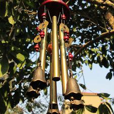 Windspiel Klangspiel 4 Klangröhren Feng Shui Windharfe Haus Garten Deko Neu