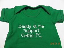 PERSONALISED BABY VEST - CELTIC CFC - ANY NAME BEAUTIFULLY EMBROIDERED FUN GIFT