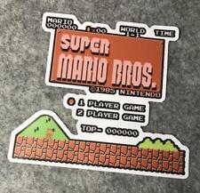Super MARIO BROS NES Game Sticker Decal Vinyl Label mancave retro arcade
