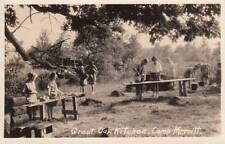REAL PHOTO POSTCARD RPPC c1925-49 Girl Scouts Camp Merritt EAST HAMPTON CT 14031