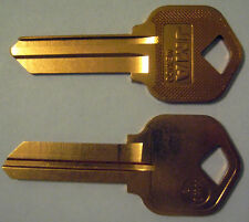 2 ORANGE BLANK HOUSE KEYS FOR KWIKSET LOCKS KW1 CAN BE PUNCHED TO YOUR CODE