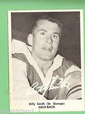 1967  BILLY SMITH  MIRROR NEWSPAPER RUGBY LEAGUE CARD, ST GEORGE