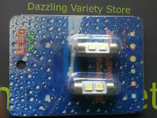 2 X 36mm 2 X 5050 Smd Led Blanco Festoon Luz Interior Foco Auto Lámpara C5w Reino Unido