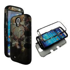 Hybrid Blk Camo Deer Conifer 3 in 1 Samsung Galaxy S 4 IV i9500 Cover Case
