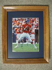 JOHN ELWAY: Autographed 8x10 / Oak Framed Matted 16x13 (Broncos)-WOW! NICE! L@@K