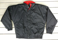Insulated black & red winter jacket men's Large NEW FREE shipping