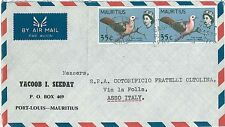 BIRDS - DOVES : POSTAL HISTORY - COVER: MAURITIUS 1961