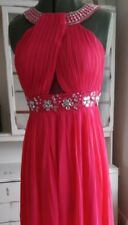 Ball gown bridesmaid prom sequins pink dress size S/M. Size 8 Size 10