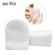 240pcs Soft Cotton Pad Cleansing Face Wipes Makeup Remover Pad U-shaped