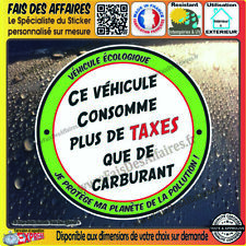 Stickers Autocollant humour taxe carburant essence gasoil diesel tuning écologie