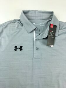 Under Armour Elevated UA Heatgear Gray Polo Golf Shirt 1305791 036 $65 Small