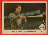 1959 Fleer #51 Ted Williams VG-VGEX CREASE HOF Boston Red Sox FREE SHIPPING