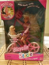 Vintage 1996 Bicyclin' Stacie Little Sister Of Barbie W/ Puppy Mattel SEALED