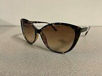 New CALVIN KLEIN Cat Eye Women's Sunglasses CK Designer Eyewear Tortoise Frame